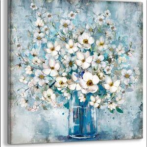 New canvas blue floral print